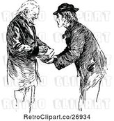 Vector Clip Art of Retro Old Guy Signing by Prawny Vintage