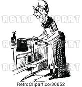 Vector Clip Art of Retro Old Lady Cooking by Prawny Vintage