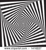 Vector Clip Art of Retro Optical Illusion Tunne Vortex Background by KJ Pargeter