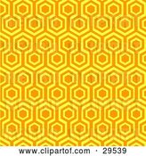 Vector Clip Art of Retro Orange and Yellow Repeat Pattern Wallpaper Background by KJ Pargeter