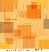 Vector Clip Art of Retro Orange and Yellow Square Background by KJ Pargeter