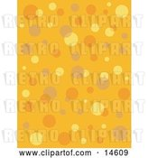 Vector Clip Art of Retro Orange Background with Colorful Bubbles and Circles Clipart Illustration by Andy Nortnik