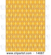 Vector Clip Art of Retro Orange Background with Colorful Diamonds Clipart Illustration by Andy Nortnik