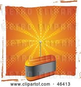Vector Clip Art of Retro Orange Fm Radio with an Antenna by Elaineitalia