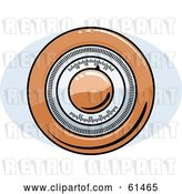 Vector Clip Art of Retro Orange Round Thermostat by R Formidable
