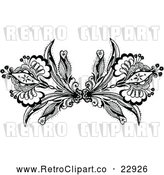 Vector Clip Art of Retro Ornamental Double Fleur Border Design Element by Prawny Vintage