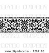 Vector Clip Art of Retro Ornate Arabian Border 4 by Vector Tradition SM