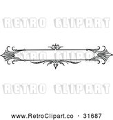 Vector Clip Art of Retro Ornate Banner Design 2 by Prawny Vintage