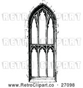 Vector Clip Art of Retro Ornate Church Window 3 by Prawny Vintage