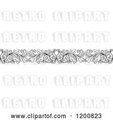Vector Clip Art of Retro Ornate Floral Border 2 by Vector Tradition SM