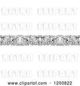 Vector Clip Art of Retro Ornate Floral Border by Vector Tradition SM