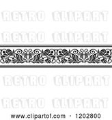 Vector Clip Art of Retro Ornate Floral Border Design 2 by Vector Tradition SM