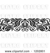 Vector Clip Art of Retro Ornate Floral Border Design 3 by Vector Tradition SM
