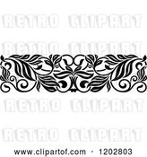 Vector Clip Art of Retro Ornate Floral Border Design 5 by Vector Tradition SM