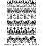 Vector Clip Art of Retro Ornate Floral Borders by Vector Tradition SM