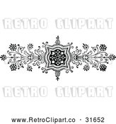 Vector Clip Art of Retro Ornate Floral Design Element 1 by Prawny Vintage