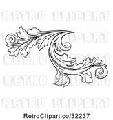 Vector Clip Art of Retro Ornate Floral Design Element by AtStockIllustration