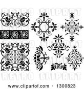 Vector Clip Art of Retro Ornate Floral Design Elements by Dero