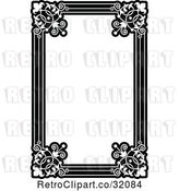 Vector Clip Art of Retro Ornate Floral Frame by AtStockIllustration
