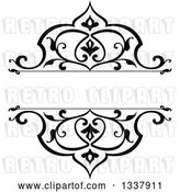 Vector Clip Art of Retro Ornate Floral Frame Design Element with Text Space 2 by Vector Tradition SM