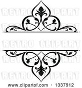 Vector Clip Art of Retro Ornate Floral Frame Design Element with Text Space 3 by Vector Tradition SM