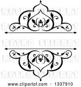 Vector Clip Art of Retro Ornate Floral Frame Design Element with Text Space by Vector Tradition SM