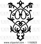 Vector Clip Art of Retro Ornate Floral Victorian Design Element 4 by Vector Tradition SM