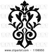 Vector Clip Art of Retro Ornate Floral Victorian Design Element 6 by Vector Tradition SM