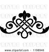 Vector Clip Art of Retro Ornate Floral Victorian Design Element 9 by Vector Tradition SM