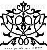 Vector Clip Art of Retro Ornate Floral Victorian Design Element by Vector Tradition SM