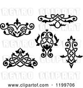 Vector Clip Art of Retro Ornate Floral Victorian Design Elements 2 by Vector Tradition SM
