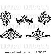 Vector Clip Art of Retro Ornate Floral Victorian Design Elements 3 by Vector Tradition SM