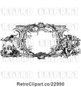 Vector Clip Art of Retro Ornate Frame with French Scenes by Prawny Vintage