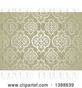 Vector Clip Art of Retro Ornate Golden Pattern Background by Dero