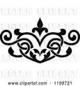 Vector Clip Art of Retro Ornate Heart Shaped Floral Victorian Design Element by Vector Tradition SM