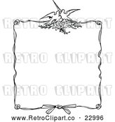 Vector Clip Art of Retro Ornate Love Bird Frame by Prawny Vintage