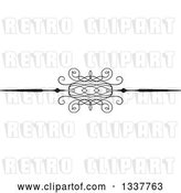 Vector Clip Art of Retro Ornate Rule Page Border Design Element 3 by KJ Pargeter