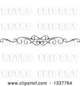 Vector Clip Art of Retro Ornate Rule Page Border Design Element 4 by KJ Pargeter