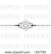 Vector Clip Art of Retro Ornate Rule Page Border Design Element 5 by KJ Pargeter