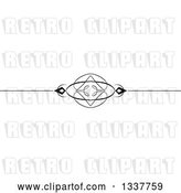 Vector Clip Art of Retro Ornate Rule Page Border Design Element by KJ Pargeter
