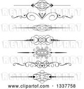 Vector Clip Art of Retro Ornate Rule Page Border Design Elements by KJ Pargeter