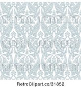 Vector Clip Art of Retro Ornate Seamless Art Nouveau Pattern Background by AtStockIllustration