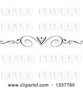 Vector Clip Art of Retro Ornate Swirl and Heart Rule Page Border Design Element by KJ Pargeter
