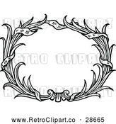 May 9th, 2018: Vector Clip Art of Retro Oval Reed Frame by Prawny Vintage