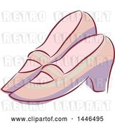 Vector Clip Art of Retro Pair of Shoes by BNP Design Studio