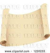 Vector Clip Art of Retro Parchment Paper Scroll by Cidepix