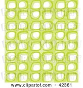 Vector Clip Art of Retro Pattern with Rows of White and Green Boxes by Suzib_100