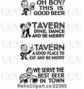 Vector Clip Art of Retro People with Tavern and Bar Text by BestVector