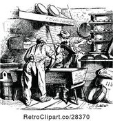Vector Clip Art of Retro People Working in a Bakery by Prawny Vintage
