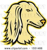 Vector Clip Art of Retro Persian Greyhound Dog Mascot Head by Patrimonio
